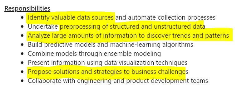 job scope 2, data science interview